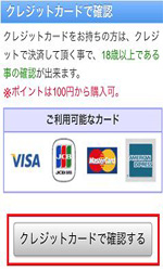 PCMAXクレジットカード決済クレジット選択画面